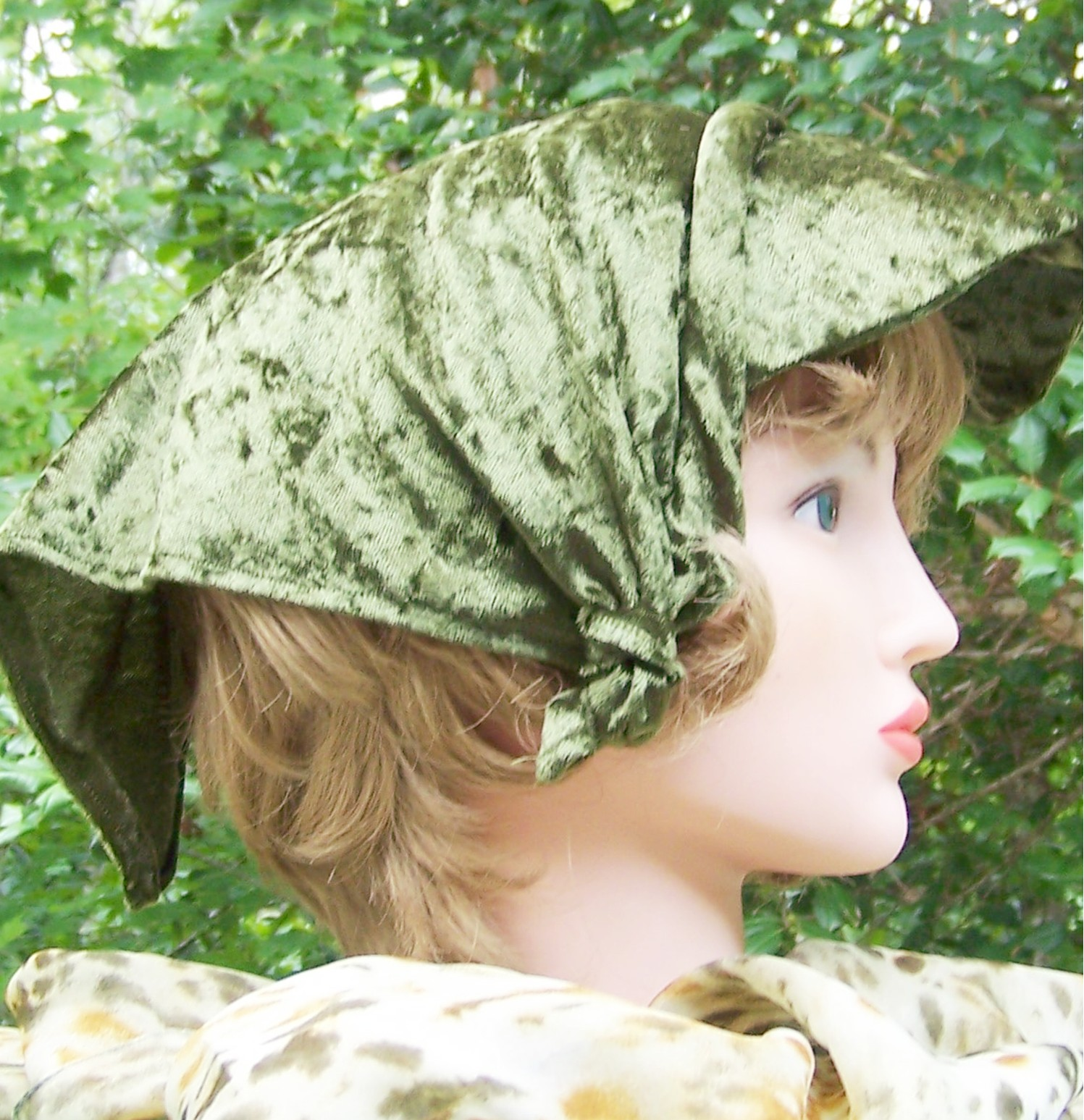 Olive Geen Velour Hat